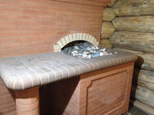 Банная печь открытая каменка
