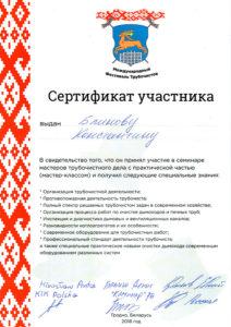 Сертификаты печника Блинов Константин