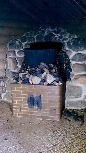 Банная печь по-черному
