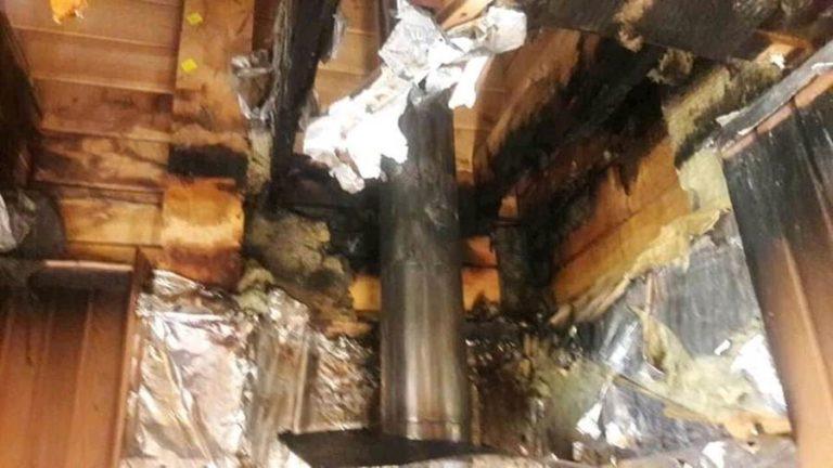 Дымовая труба от которой сгорит дом