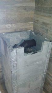 Пожароопасное примыкание печи к стене