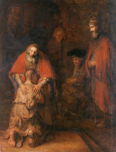 Рембрандт. Возвращение блудного сына. 1666 г. Холст, масло.