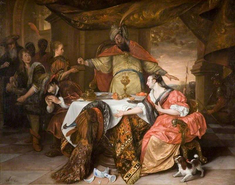 Ян Стен. Гнев Артаксеркса. 1671 г. Холст, масло.
