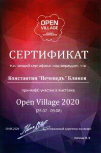 Участие в выставке Open Village 2020