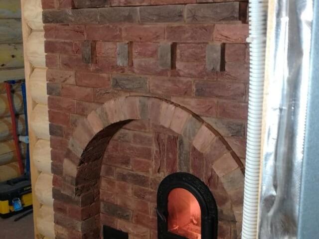 Банная печь на обращённом пламени
